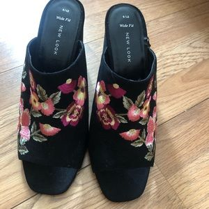 ASOS Floral Heeled Mules - NWT
